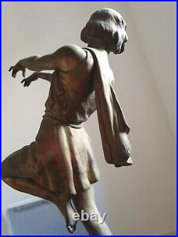 Lampe Carlier Art Deco Danseuse
