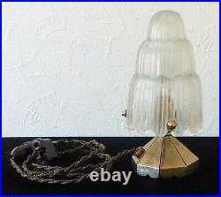 Lampe Champignon Art-Déco Veilleuse Cascade 4640 Marius Ernest SABINO 1930