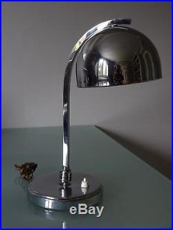 Lampe De Bureau Art Deco Metal Chrome