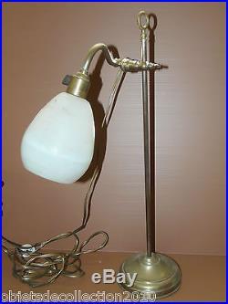 Lampe De Bureau Orientable Tulipe Pate De Verre Degue Art Deco Lampe A Poser
