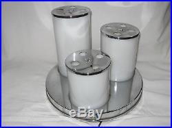 Lampe De Style Art Deco En Plastique Et Pied Metal Chrome