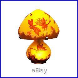 Lampe De Table Galle Hauteur 26cm Dome 22cm Lampara Lampada L954
