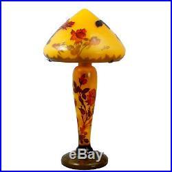 Lampe De Table Galle Hauteur 59cm Dome 30cm Lampara Lampada L973