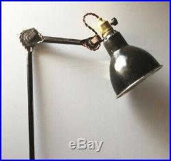 Lampe GRAS 201 Art Deco Bauhaus Industrial Factory Table Lamp Le Corbusier 1920