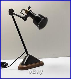 Lampe GRAS 206 Art Deco Bauhaus Industrial Factory Table Lamp Le Corbusier 1920