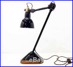 Lampe GRAS 206 Ravel Clamart Art Deco Bauhaus Industrial Factory Table Lamp 1930