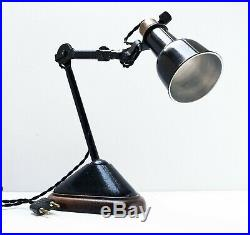 Lampe GRAS 207 oculiste Art Deco Bauhaus Factory Table Lamp Le Corbusier 1920 30