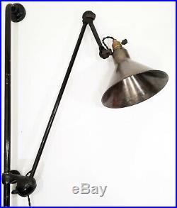 Lampe GRAS 214 RAVEL Art Deco Bauhaus factory Wall Lamp era Le Corbusier 1930