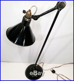 Lampe GRAS 305 Ravel Art Deco Bauhaus factory Table Lamp era Le Corbusier 1930