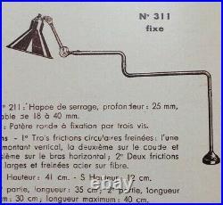 Lampe GRAS 311 Art Deco Bauhaus Industrial Factory Table Lamp Le Corbusier 1920