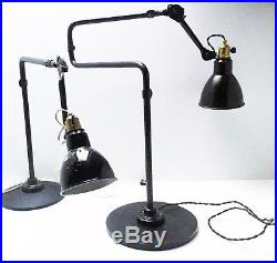 Lampe GRAS Art Deco Bauhaus Industrial Factory Table Lamp Le Corbusier 1920 1930