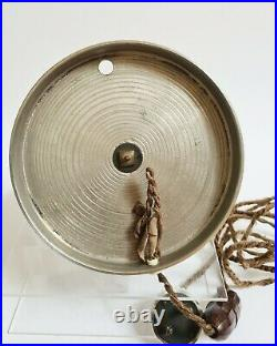 Lampe Globe à poser Design ART-DÉCO en métal chromé et verre rose vers 1930