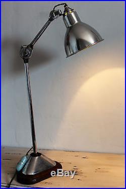 Lampe Gras 206 Nickelee Art Deco Atelier Industrielle Vintage Industrial Lamp
