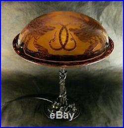 Lampe Le Verre Francais, schneider, charder, signature au berlingot