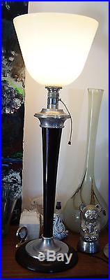 lampe art deco lampe mazda art d co avec son opaline d origine mazda ann e 30. Black Bedroom Furniture Sets. Home Design Ideas