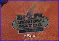 Lampe MAZDA art déco avec son opaline d'origine MAZDA année 30