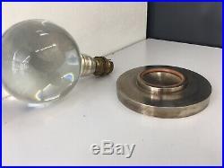 Lampe Moderniste Ancienne JACQUES ADNET & BACCARAT Crystal Lamp Art Deco