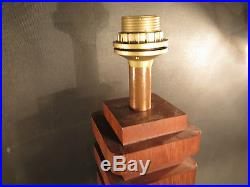 Lampe Moderniste Bois Vintage MID Century Modernist Table Lamp Art Deco 30 40
