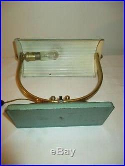 Lampe Moderniste Laiton métale émaillé Art Deco 1930 /50 Adnet Perzel Perriand