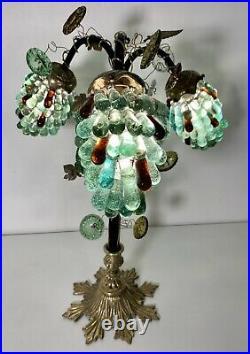Lampe Murano avec grappes de raisin en verre style art déco