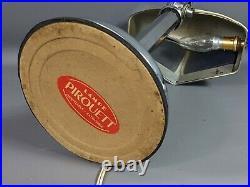 Lampe Pirouett étiquette d'origine, modèle mouche 1930-1940 Bel état