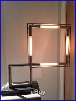 lampe art deco lampe quadro de jacques adnet cr vers 1928 art d co en parfaite tat. Black Bedroom Furniture Sets. Home Design Ideas