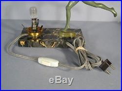 Lampe Sculpture Art Deco Style Guerbe Le Faguays / Lampe Femme Nue Art Deco
