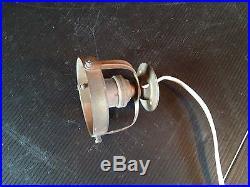 Lampe Spot Réflecteur Verre cristal Argenté Miroir Magasin Art Déco Bauhaus 1930