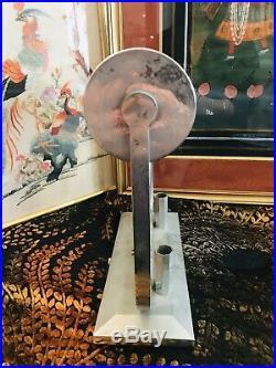 Lampe Veilleuse Art Deco Nikel Alu / Femme Moderniste A Reelectrifie