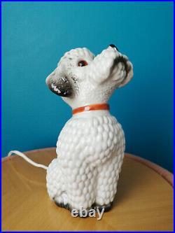 Lampe Veilleuse En Porcelaine Art Déco Caniche Perfume Lamp Night Light Poodle
