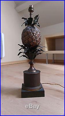 Lampe ananas de type Charles bronze