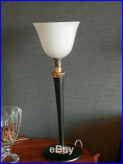 Lampe art déco MAZDA LAQUE NOIR