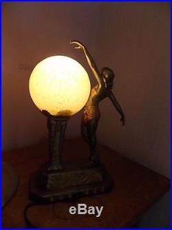 Lampe art deco ancienne signé