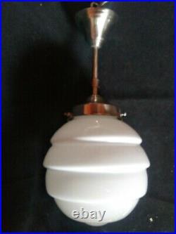 Lampe art deco bauhaus 193040 white globe opaline
