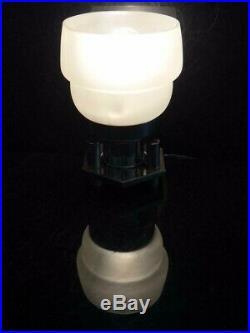 Lampe art deco bauhaus moderniste verre givré style Boris Lacroix Desny