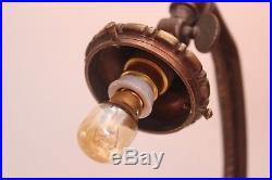 Lampe art déco bronze pâte de verre Muller lustre daum schneider