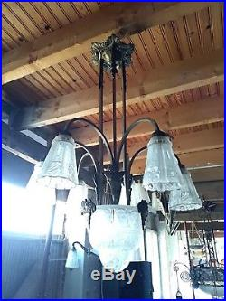 Lampe art deco bronze verre moulé Des hanots Genet Michon Muller Gilles d'Avesn