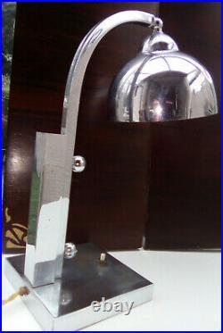 Lampe art déco chrome, 1930, lampe bureau