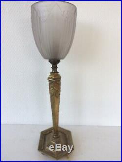 Lampe art deco en bronze tulipe SONOVER