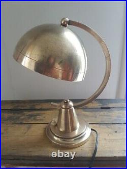 Lampe art déco en laiton