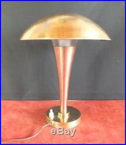 Lampe art deco laiton cuivre Perzel Claude Lumiere Georges Claude Paz & Silva