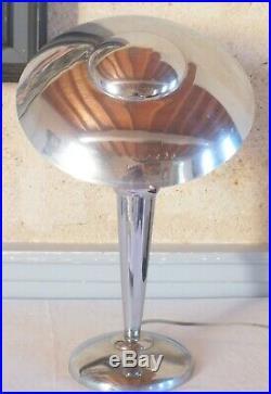 Lampe art déco métal chromé