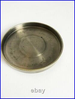 Lampe art deco moderniste boule cristal bronze nickelé Jacques Adnet Baccarat