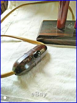 Lampe art deco palissandre bakelite ambre. Amber marber faturan catalin lamp