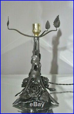 Lampe art nouveau / art déco fer forgé pâte de verre Degué ERA daum, muller
