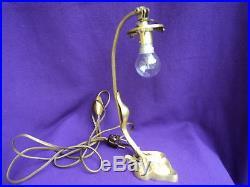 Lampe bronze art nouveau deco tulipe le verre francais era Daum, Muller