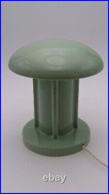 Lampe champignon Art deco moderniste Bahaus porcelaine vintage