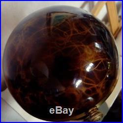 Lampe champignon art deco attribuée a Adnet laiton ecaille de tortue