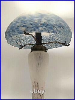 Lampe champignon pâte de verre style Art Nouveau déco dlg Muller Gallé Degué