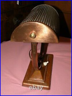 Lampe de bureau ART DECO cuivre Paris 1930/40 french decorative